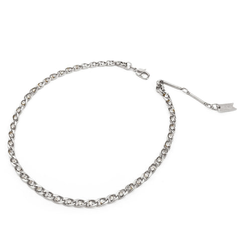 Mini Twin Flame Collar - Silver