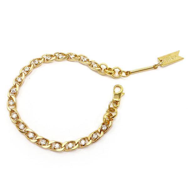 Mini Twin Flame Bracelet - Gold