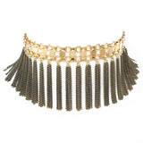 Raina Fringe Collar - Gold