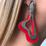 Magma Studs - Red / Silver