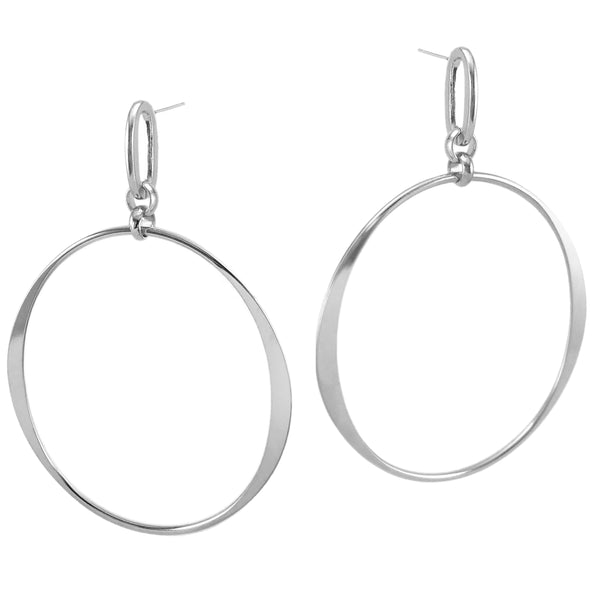 Round The Sun Hoops - Silver
