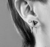 Crystal Spike Studs - Clear/Silver
