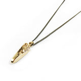 Small Crystal Pendant - Gold