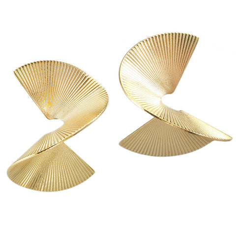 Solarwave Studs - Large - Gold