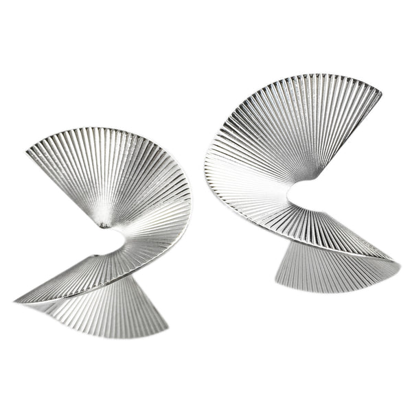 Solarwave Studs - Large - Silver
