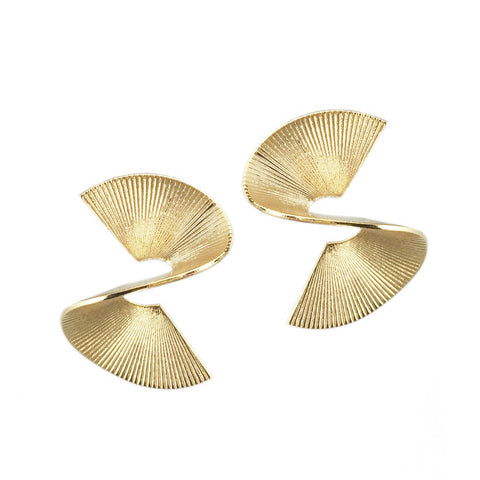 Solarwave Studs - Small - Gold