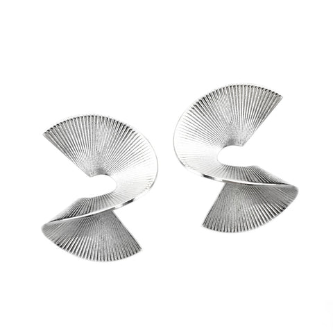 Solarwave Studs - Small - Silver