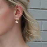 Solarwave Studs - Mini - Rose Gold