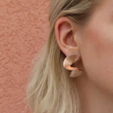 Solarwave Studs - Small - Rose Gold
