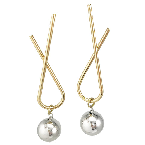 Sway Studs - Two-Tone Gold/Silver