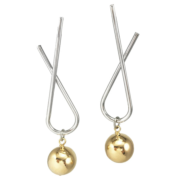 Sway Studs - Two-Tone Silver/Gold