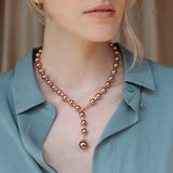 Switchback Dotchain Collar - Rose Gold