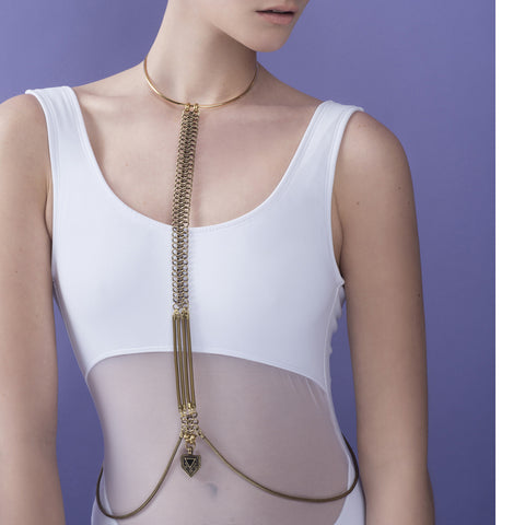 Tabea Body Chain - Brass