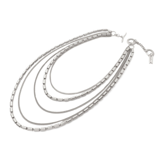 Terasu Layered Necklace - Silver
