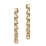 Twin Flame Chain Studs - Long / Gold