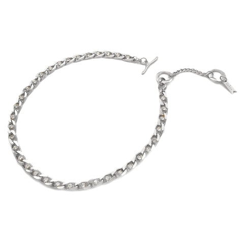 Twin Flame Collar - Silver