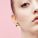 Wave Studs - Gold