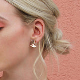 Wave Studs - Rose Gold