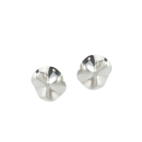 Wave Studs - Silver