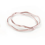 Wavy Bangles - Set of Two - Rose Gold