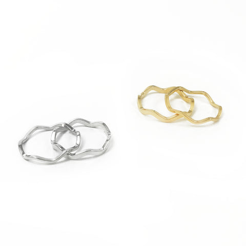 Wavy Rings, Set of 2
