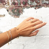 Double Dot Bangle - Luxe Silver / Gold / Oxi Silver