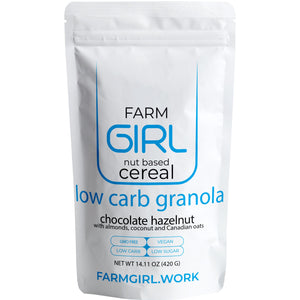 Chocolate Hazelnut: Low Carb Cereal with 0 added Sugar 420g - Farm Girl