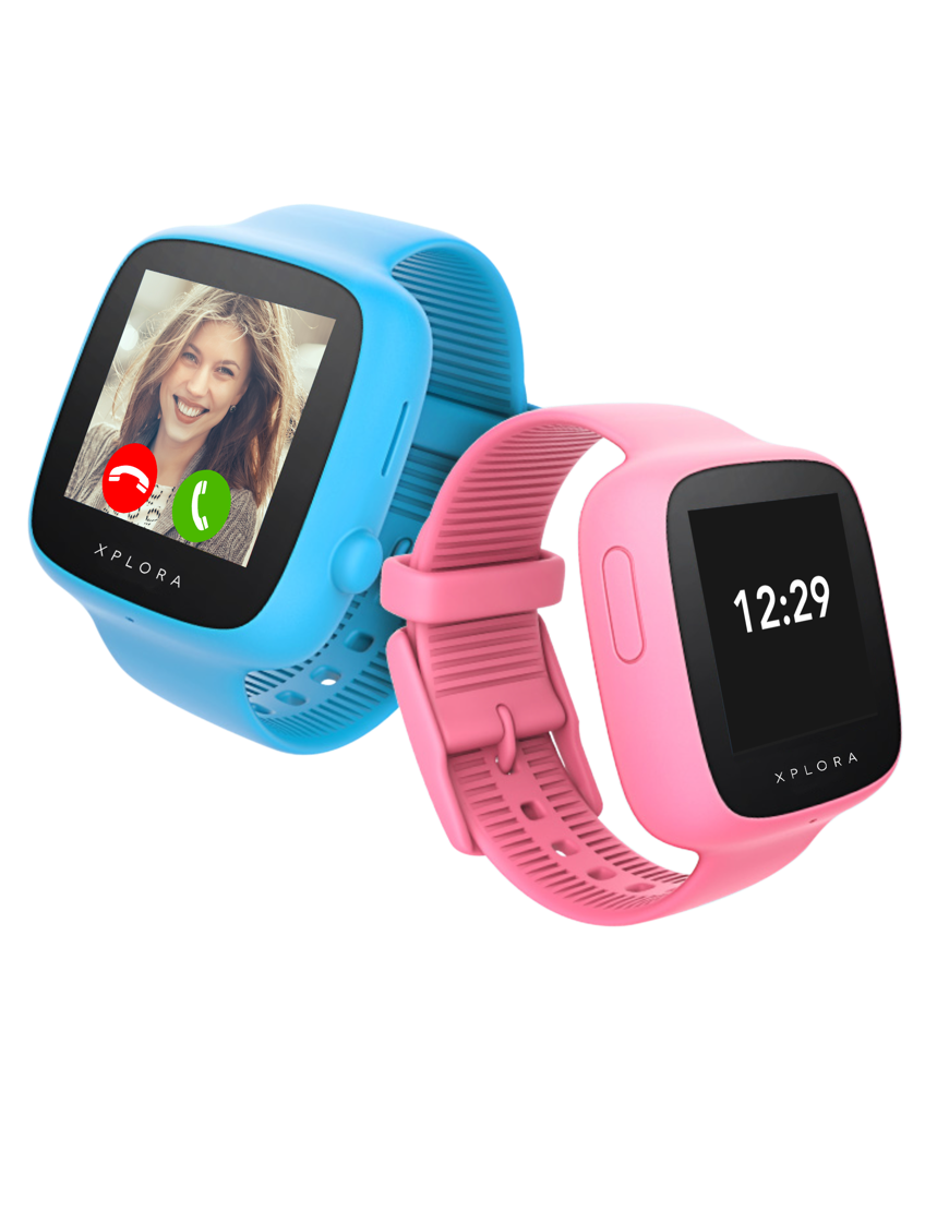 Pink and Blue XPLORA GO Smartwatch for kids