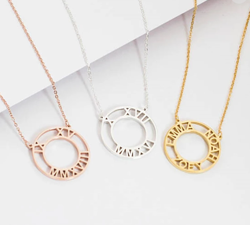 Personalised Roman Numerical Necklace