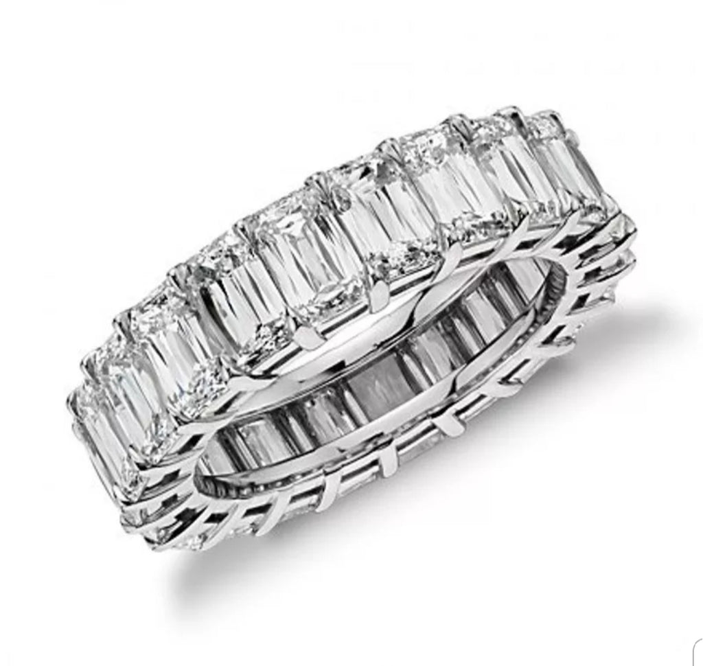 Rectangle Cut Eternity band