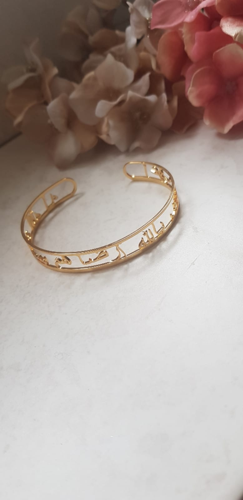 Customised Arabic Gold Plated Bangle