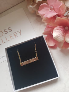 Customised Bar Necklace - Gold, Silver + Rose Gold