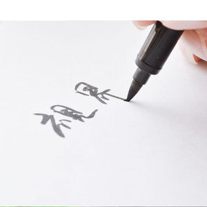 10pcs Calligraphy Pen for Signature Chinese Words Learning Stationery School Supplies Papelaria