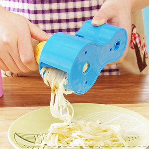 Multifunction Spiral Vegetable Slicers Double Grater-Kitchen & Dining-skrstar.com-Blue-