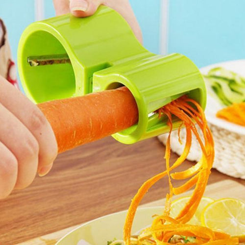 Multifunction Spiral Vegetable Slicers Double Grater-Kitchen & Dining-skrstar.com-Green-