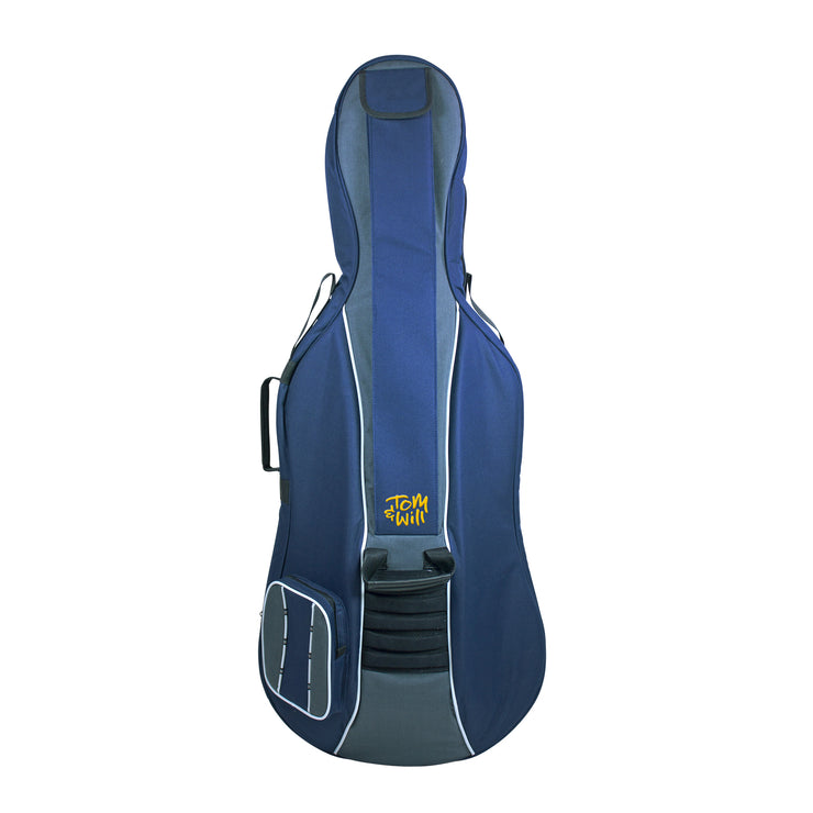 41VC34-215 - Tom & Will Classic 3/4 size cello gig bag Navy with grey trim
