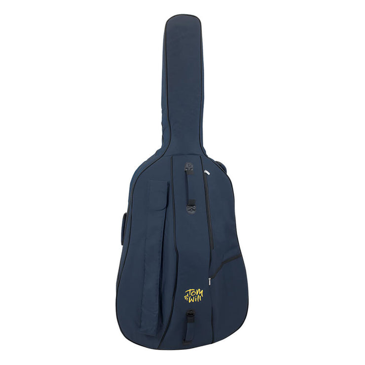 46BS34-387 - Tom & Will double bass gig bag 3/4 size Blue with blue interior