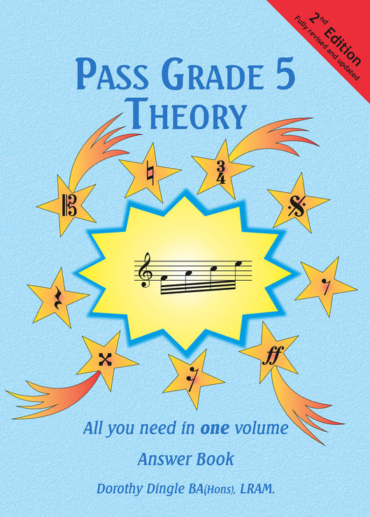 9780955395154 - Dingle Music Pass Grade 5 Theory Answer Book - 2nd edition Default title