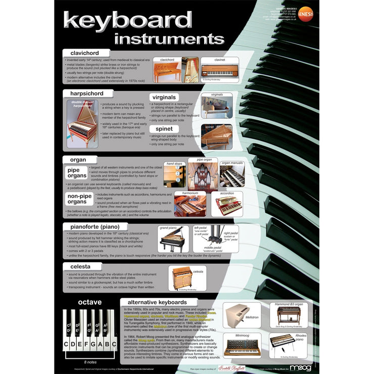 GNS-27 - Genesis Images Keyboard instruments - A1 wall poster Default title