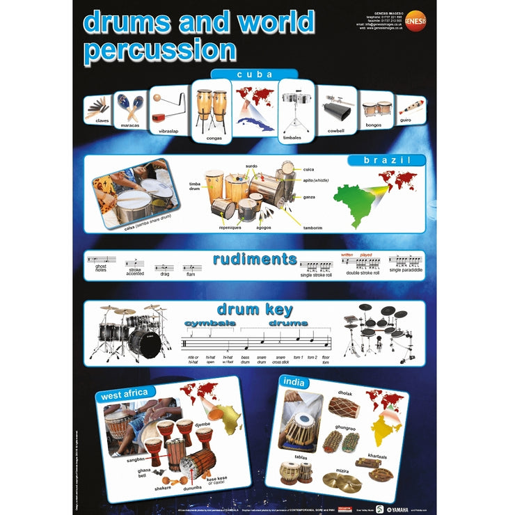 GNS-28 - Genesis Images Drums and world percussion - A1 wall poster Default title