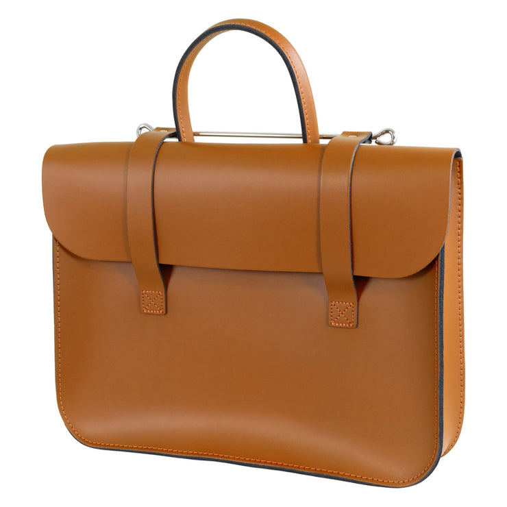 MC1-T - Oxford Traditional leather music case Autumn tan