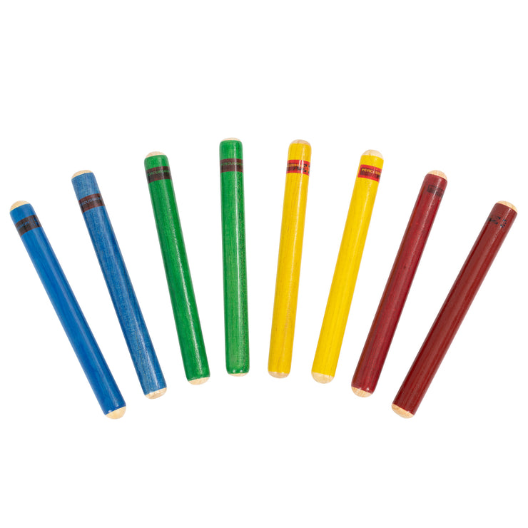 PP20308 - Percussion Plus claves - pack of 4 pairs in mixed colours Default title