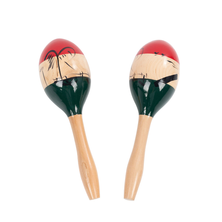 PP217 - Percussion Plus large wooden maracas with colourful design Default title