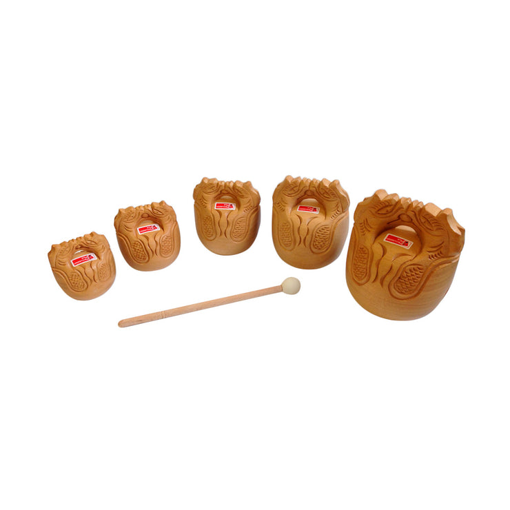 PP237 - Percussion Plus temple blocks - set of 5 Default title
