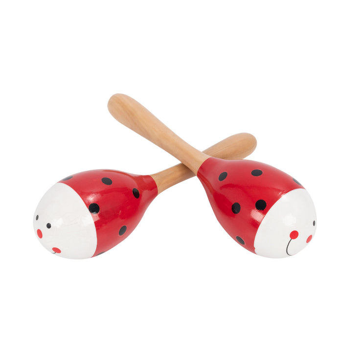 PP3110 - Percussion Plus wooden bug maracas Red ladybird