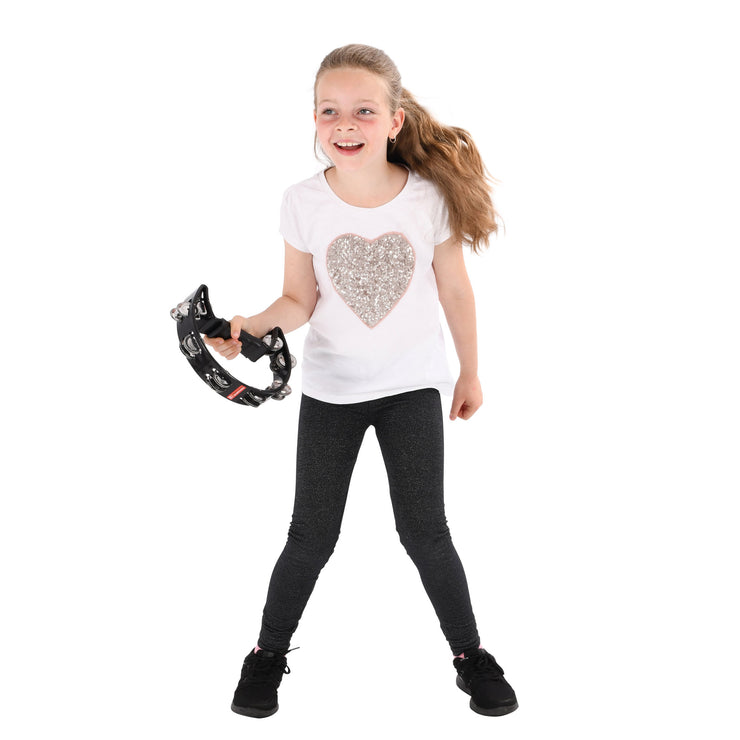 PP486-1 - Percussion Plus half moon tambourine Black