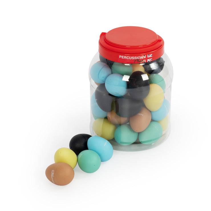 PP779 - Percussion Plus egg shakers – tub of 40 Default title