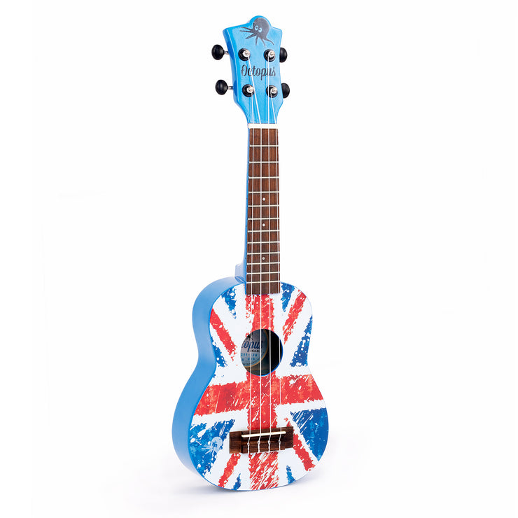 UK205-UJB - Octopus UK205 New 2020 model soprano ukulele - United Jack Blue Default title