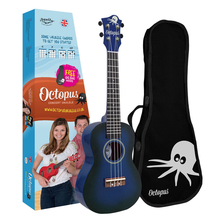 UK210C-DBB - Octopus UK210C original series concert ukulele - Dark blue burst Default title