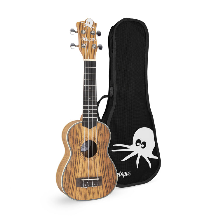 UK2860S - Octopus UK2860S Soprano ukulele - Zebrawood open pore Default title